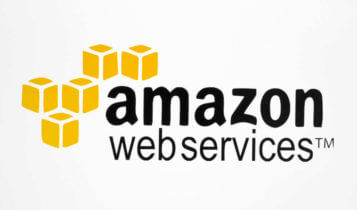the logo of amazon web services on a white background