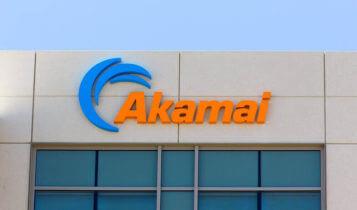Akamai logo on a wall of a building