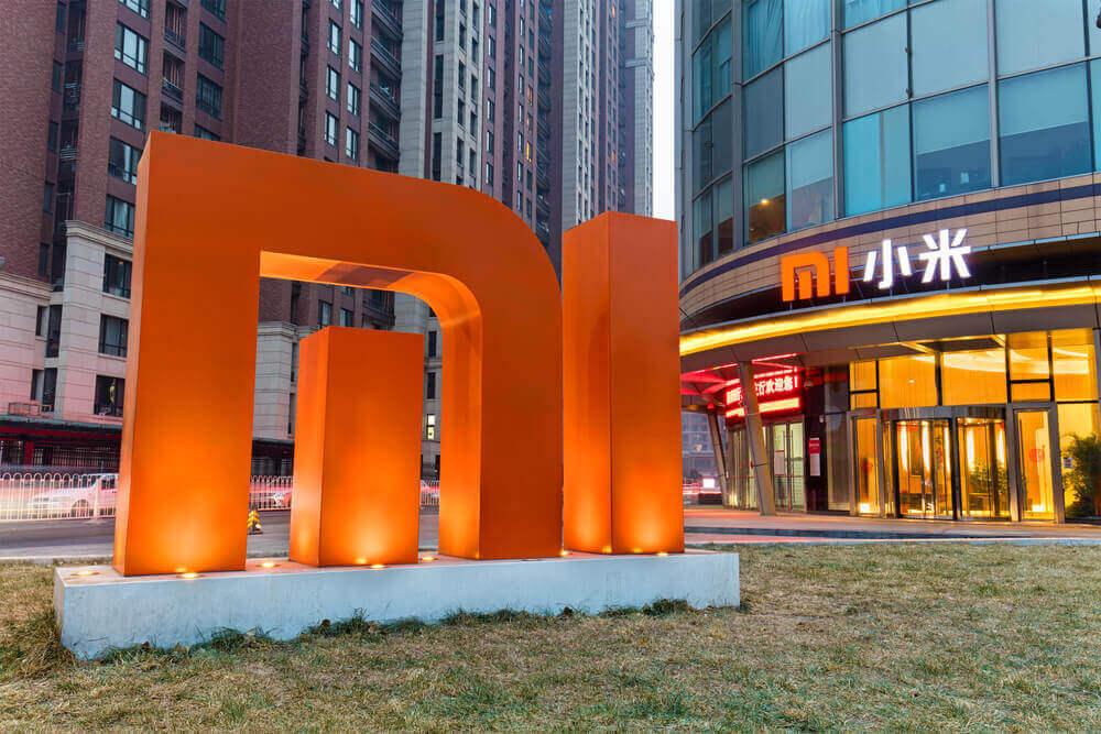 Xiaomi logo outside company headquarters