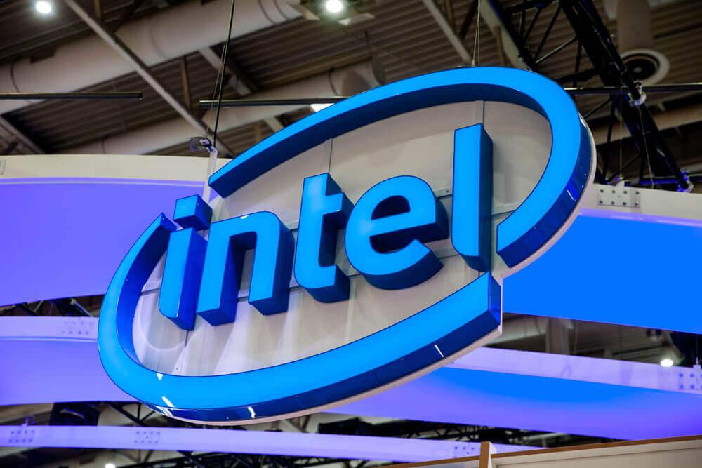 Intel company with logo.