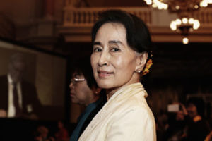FinanceBrokerage - Stock Quotes: Myanmar leader Aung San Suu Kyi encouraged global investors to invest into her country.