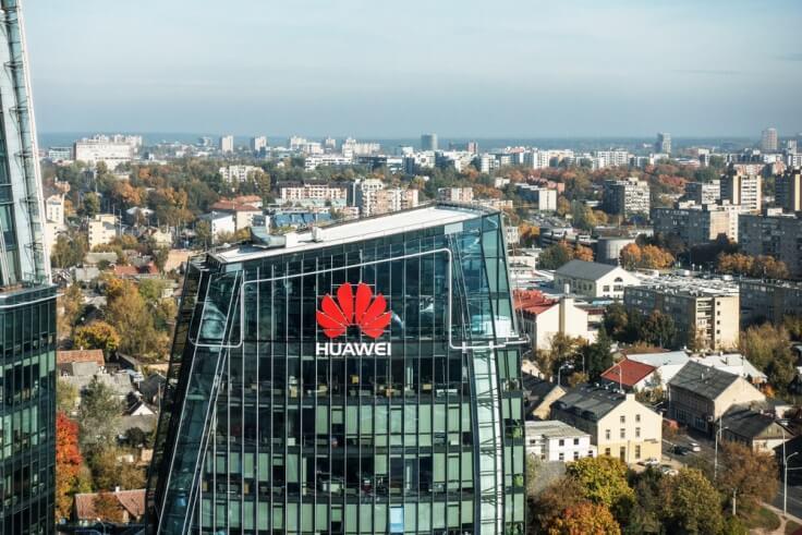 Finance Brokerage – Huawei: aerial shot of Huawei's office building