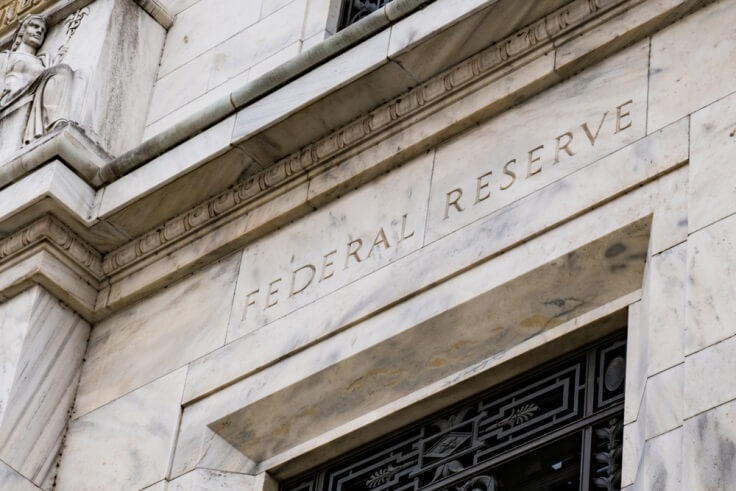 Finance Brokerage-Federal Budget: Outside view of the US Federal Reserve