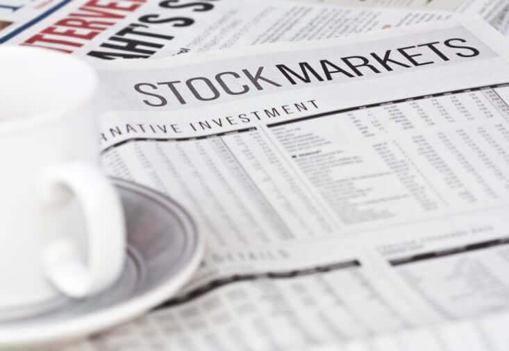 Finance Brokerage-Share Market News: stock market news section of a broadsheet.
