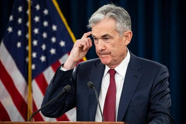 Dollar exchange rate – Photo of Federal Reserve Chairman Jerome Powell addressing the press – Finance Brokerage