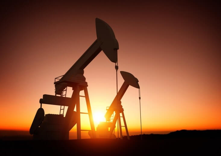 Oil Producing Countries – silhouette of two oil pumps - Finance Brokerage