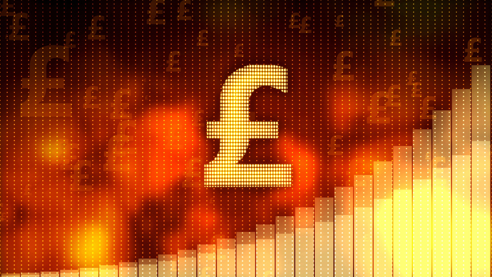 GBP/CHF, british pound sign & charts