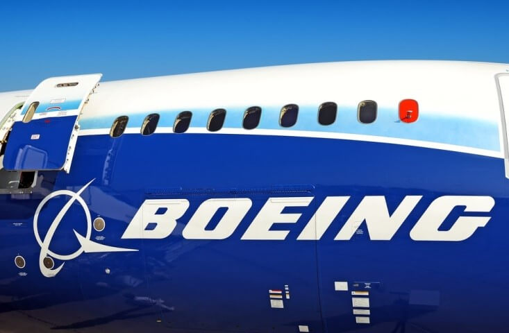 Airliners - Side view of an airplane with Boeing on its side - Finance Brokerage