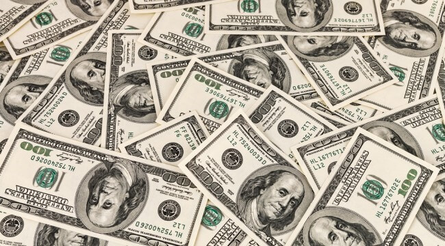 The U.S. Dollar in 100 Currency notes- Finance Brokerage