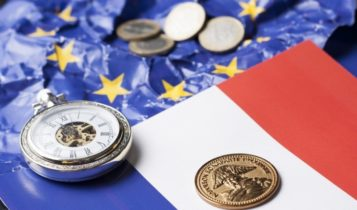 INSEE – French flag beside the European Union flag – Finance Brokerage