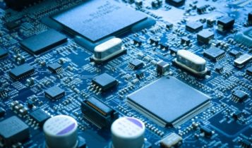 NASDAQ – a close up look on a semiconductor chip – Finance Brokerage