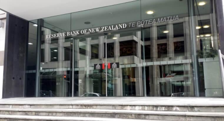New Zealand exchange rate: Reserve Bank of New Zealand main entrance- Finance brokerage