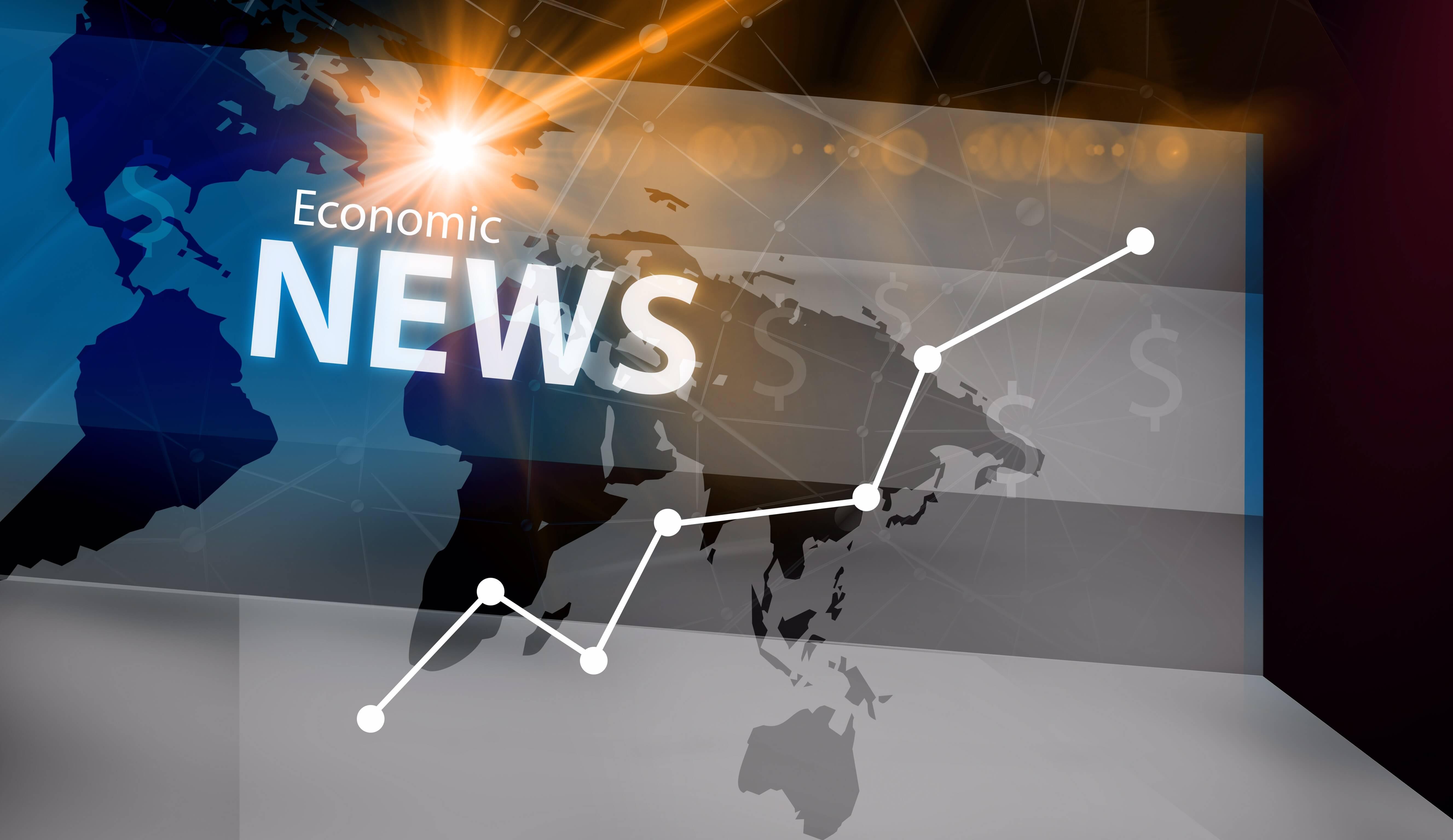 Economic Update — economic news displayed on the globe