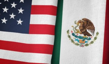 Import Tariffs – US flag and Mexican flag side by side – Finance Brokerage