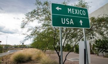 Trade Agreement – a road sign indicating directions to Mexico and US – Finance Brokerage