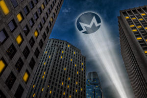 monero sign in the sky projected