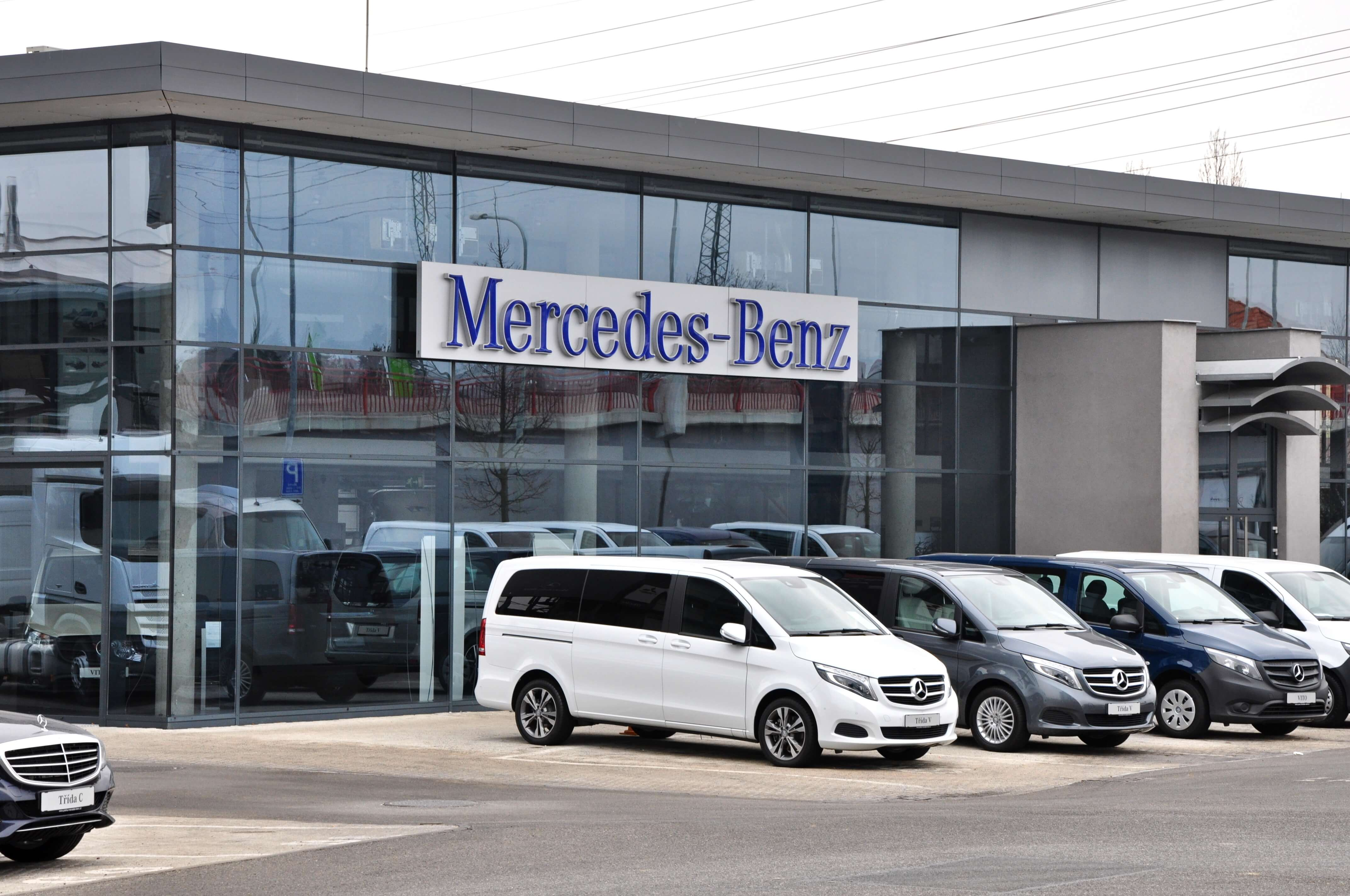 The revenue of the Mercedes Benz is decreasing