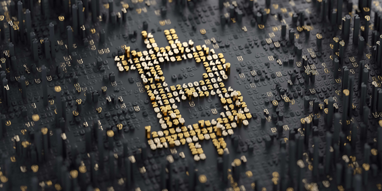 3d bitcoin logo