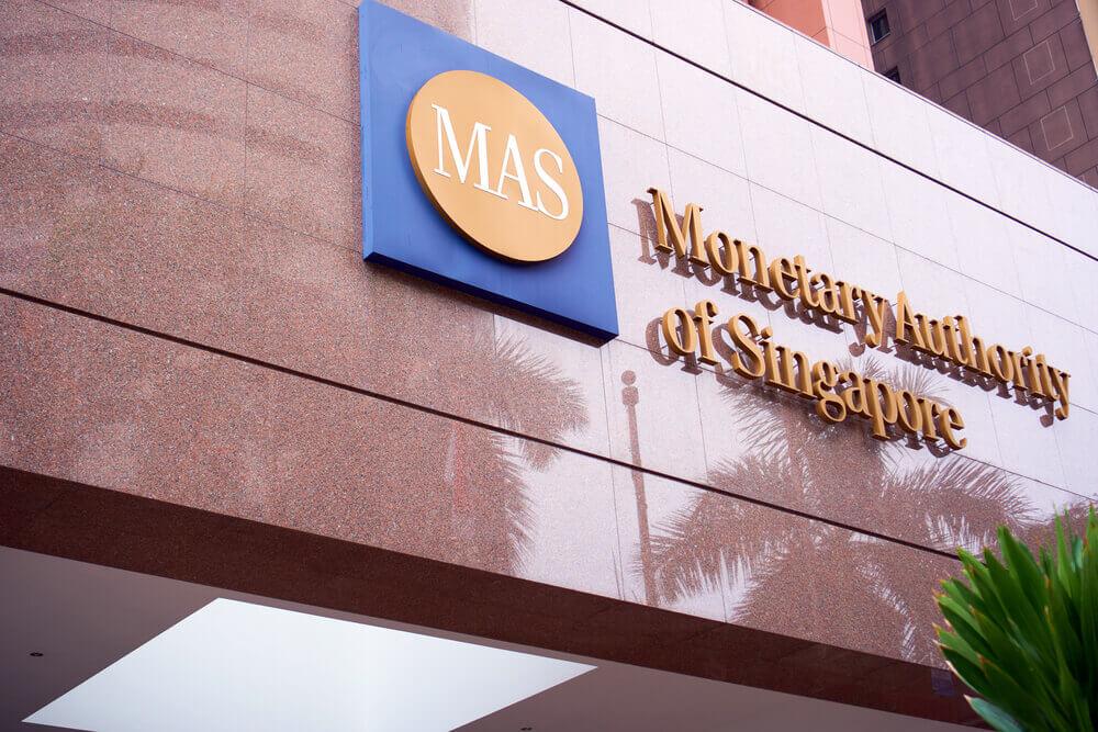 Monetary Authority of Singapore sign.