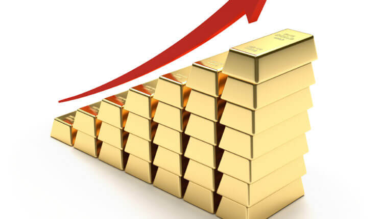 Spot price of gold and global economic problems