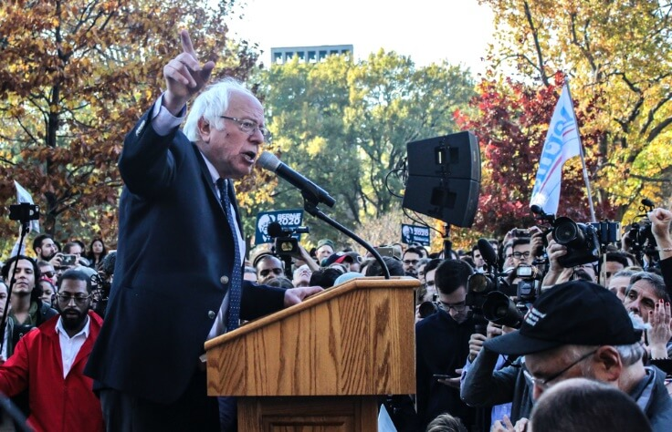 Finance Brokerage – Sanders campaigning before election day