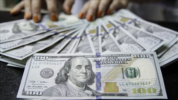 One hundred U.S. dollar currency notes- Finance Brokerage