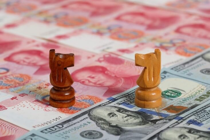Finance Brokerage – FX News: two chess pieces representing China and US