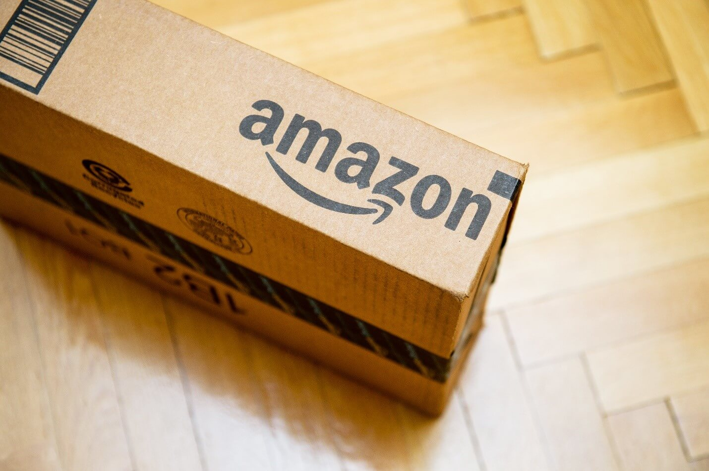 Amazon delivery box on the floor