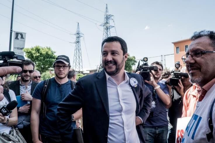Finance Brokerage – Forex Markets: Matteo Salvini in a crowd
