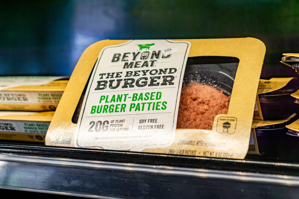 Finance Brokerage – Beyond meat stocks: Beyond Meat Burger packages available for purchase.