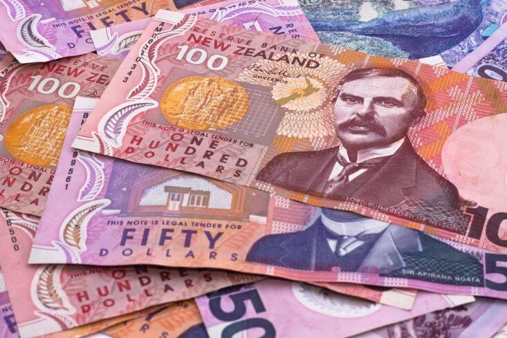 fx news – pile of new Zealand currency bills – finance brokerage