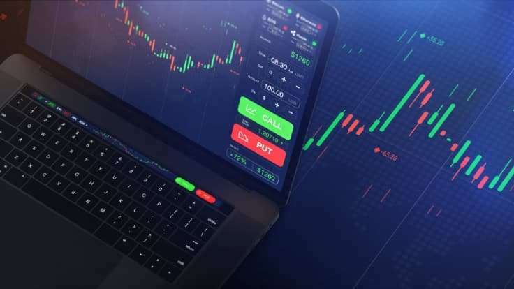 fx trading on laptop – financebrokerage