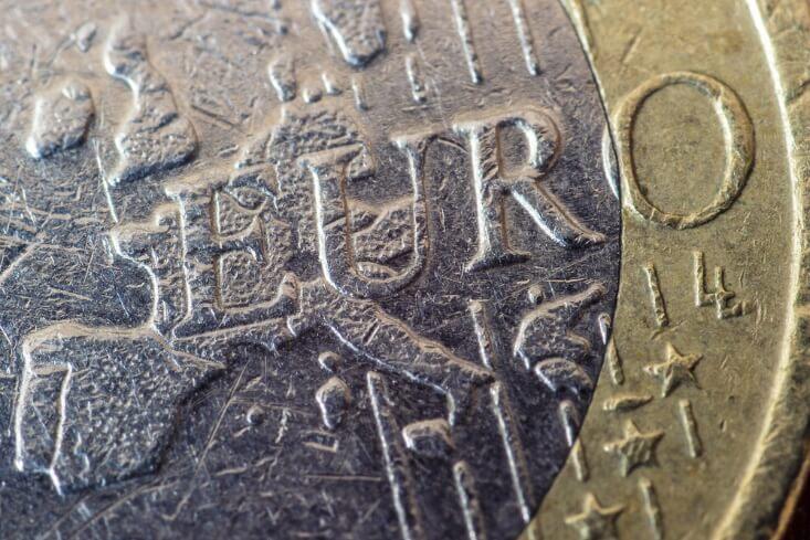 closeup shot of euro coin – finance brokerage