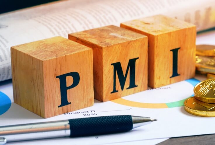 fx news - wooden cube with PMI letters – finance brokerage