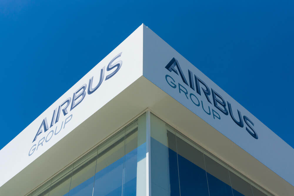 Cyber-attacks: Office Airbus Group with blue sky in above.