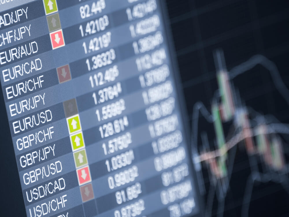 Currency trading ,closeup and shallow DOF,for forex
