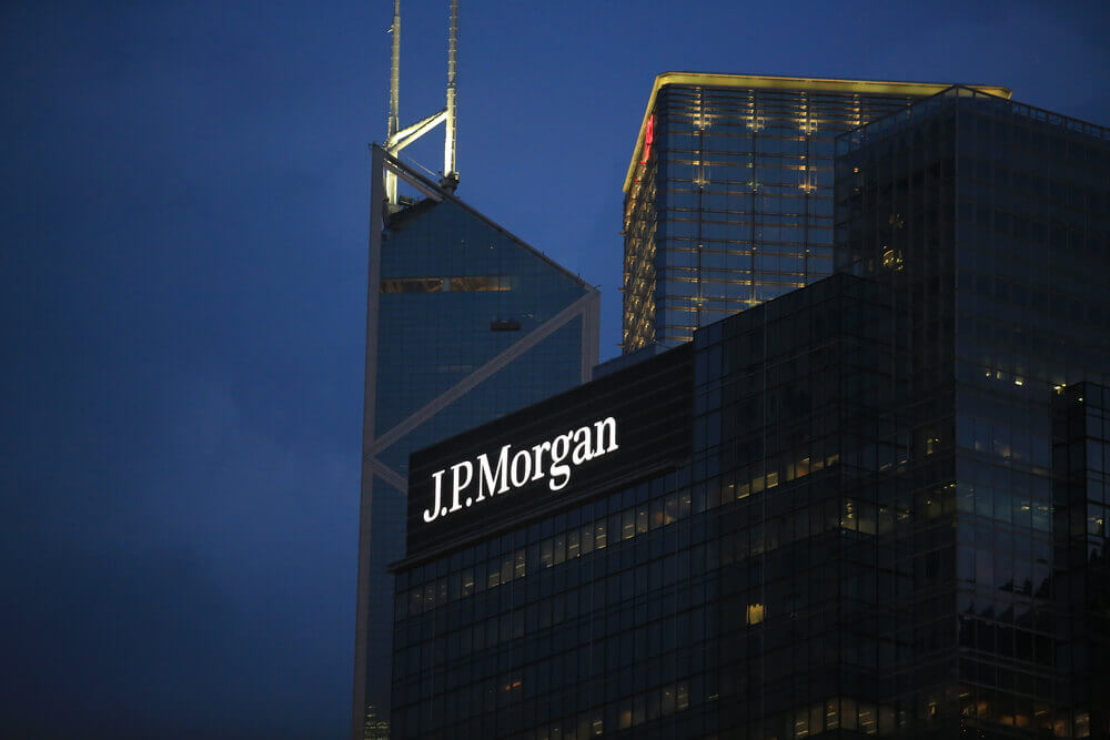 JPMorgan: The jp morgan building in night sky.