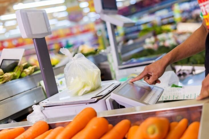 CPI concept; goods on supermarket – financebrokerage