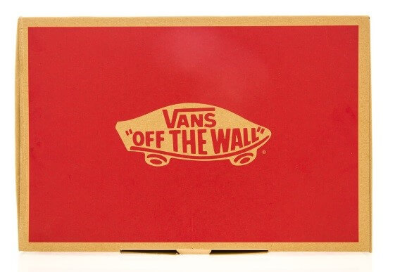 The picture represents the brand of Vans with a skateboard on it.