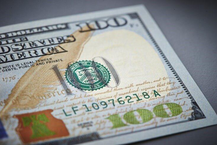US dollar currency closeup – finance brokerage