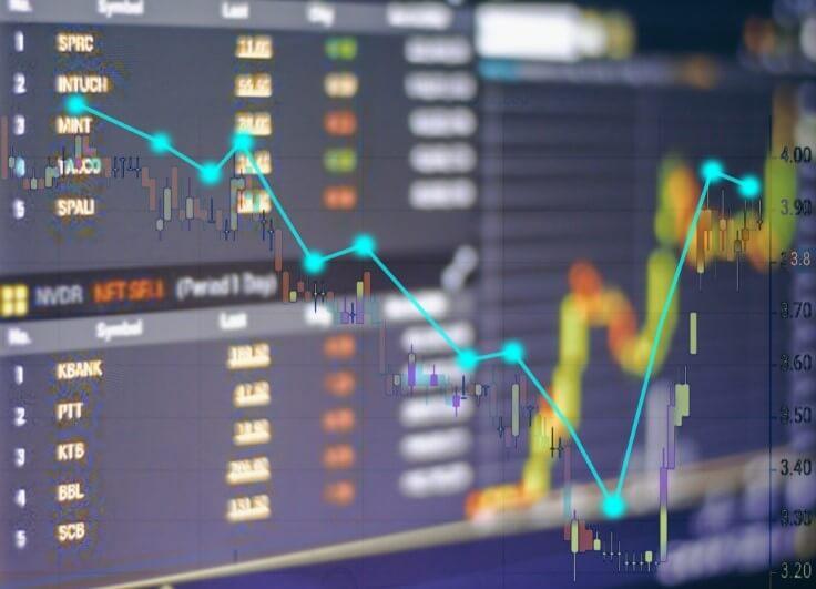business chart stock concept – Finance Brokerage
