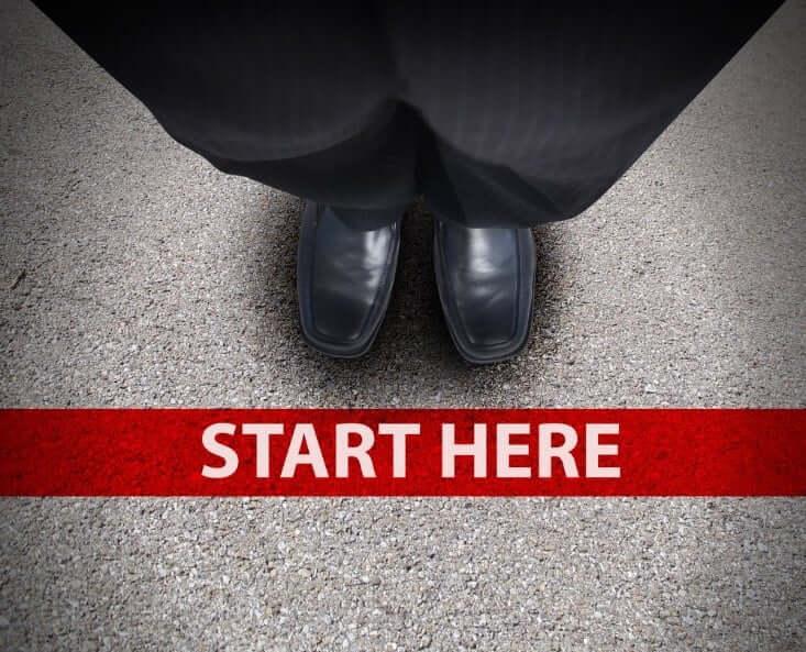 start here writing on the floor – finance brokerage