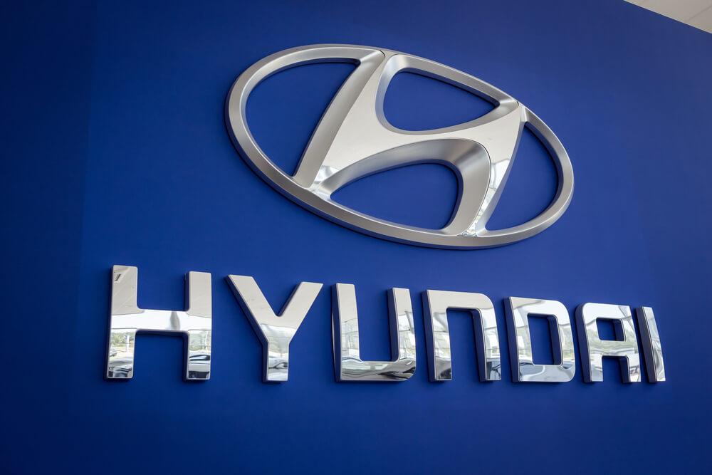 Hyundai: The logo of the brand HYUNDAI