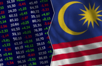 The picture demonstrates the financial market along with the Malaysia flag – Finance Brokerage