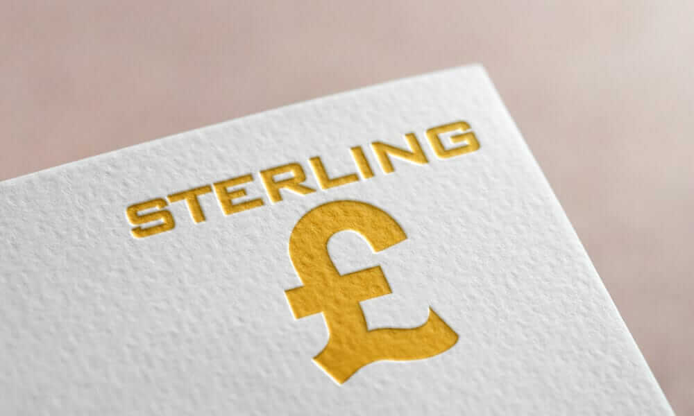 Sterling Money Logo On The Paper