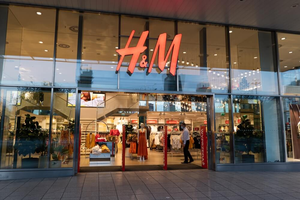H&M store sign.