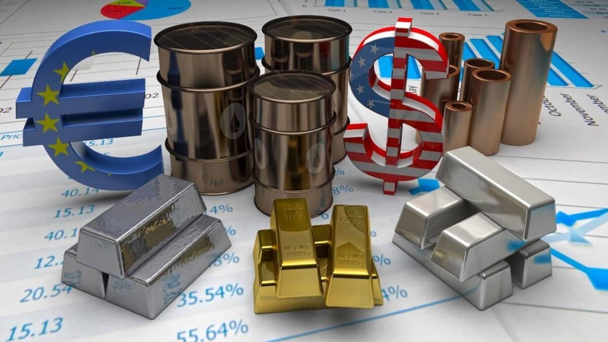 gold, dollar, oil