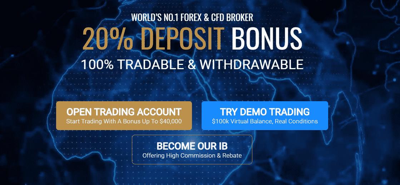 MultiBank Group Review - 20% deposit bonus