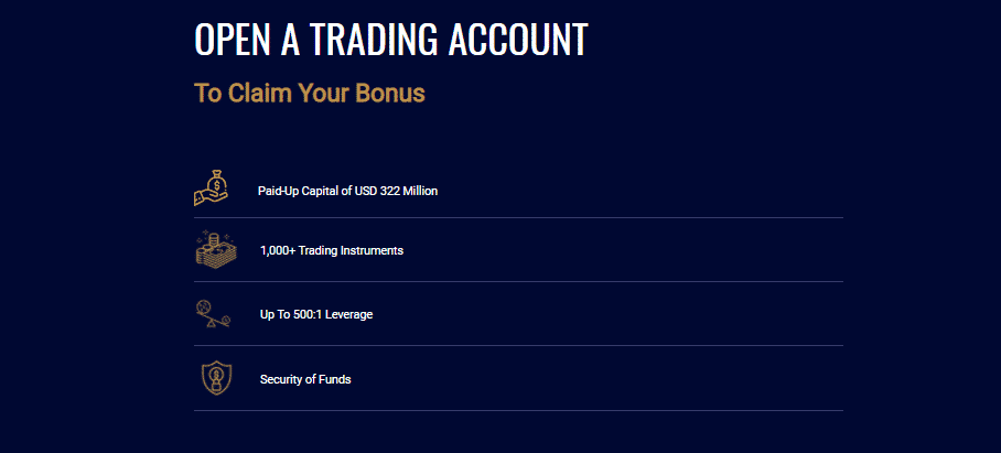 Opening an Account with MultiBank Group: Open a trading account to claim your bonus