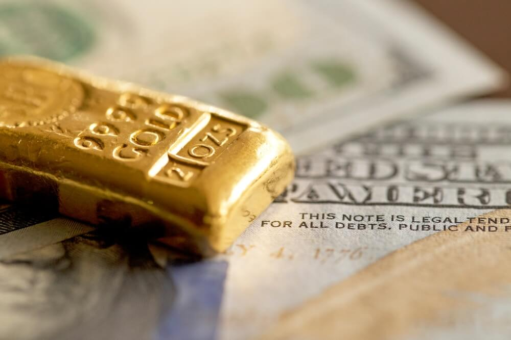 Gold prices rose as a pullback in Dollar lifted its demand